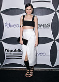 Singer Jessie J attends Republic Records and Big Machine Label Group post GRAMMY celebration at Warwick on February 8 2015 in Los Angeles California