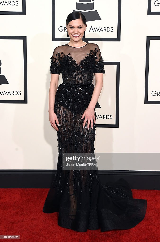 Singer <a gi-track='captionPersonalityLinkClicked' href=/galleries/search?phrase=Jessie+J&family=editorial&specificpeople=5737661 ng-click='$event.stopPropagation()'>Jessie J</a> attends The 57th Annual GRAMMY Awards at the STAPLES Center on February 8, 2015 in Los Angeles, California.