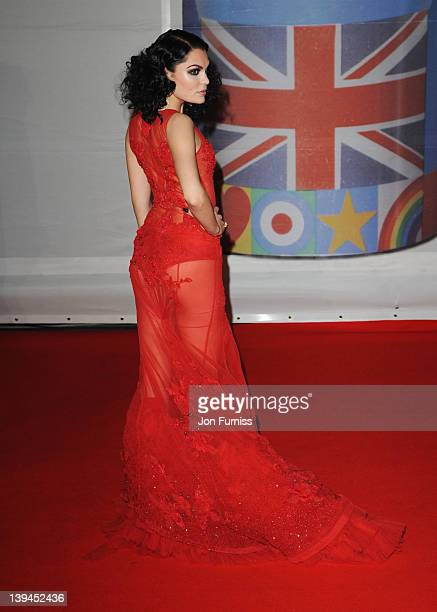 Singer Jessie J attends The BRIT Awards 2012 at the O2 Arena on February 21 2012 in London England
