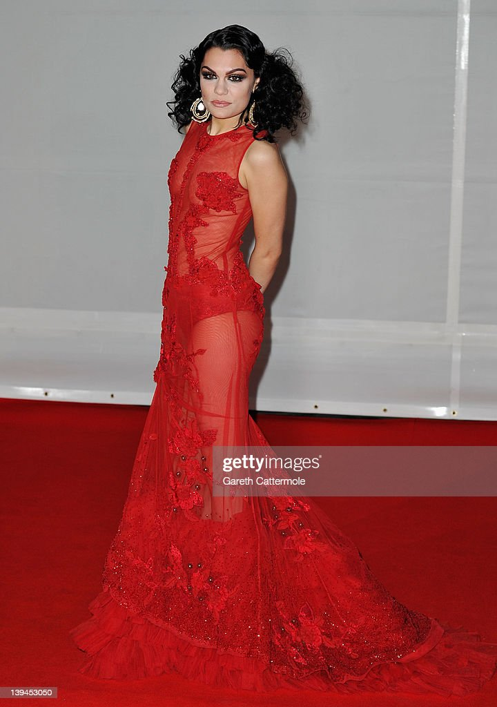 Singer <a gi-track='captionPersonalityLinkClicked' href=/galleries/search?phrase=Jessie+J&family=editorial&specificpeople=5737661 ng-click='$event.stopPropagation()'>Jessie J</a> attends The BRIT Awards 2012 at the O2 Arena on February 21, 2012 in London, England.