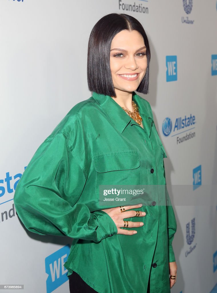 Singer Jessie J attends WE Day California to celebrate young people changing the world at The Forum on April 27, 2017 in Inglewood, California.