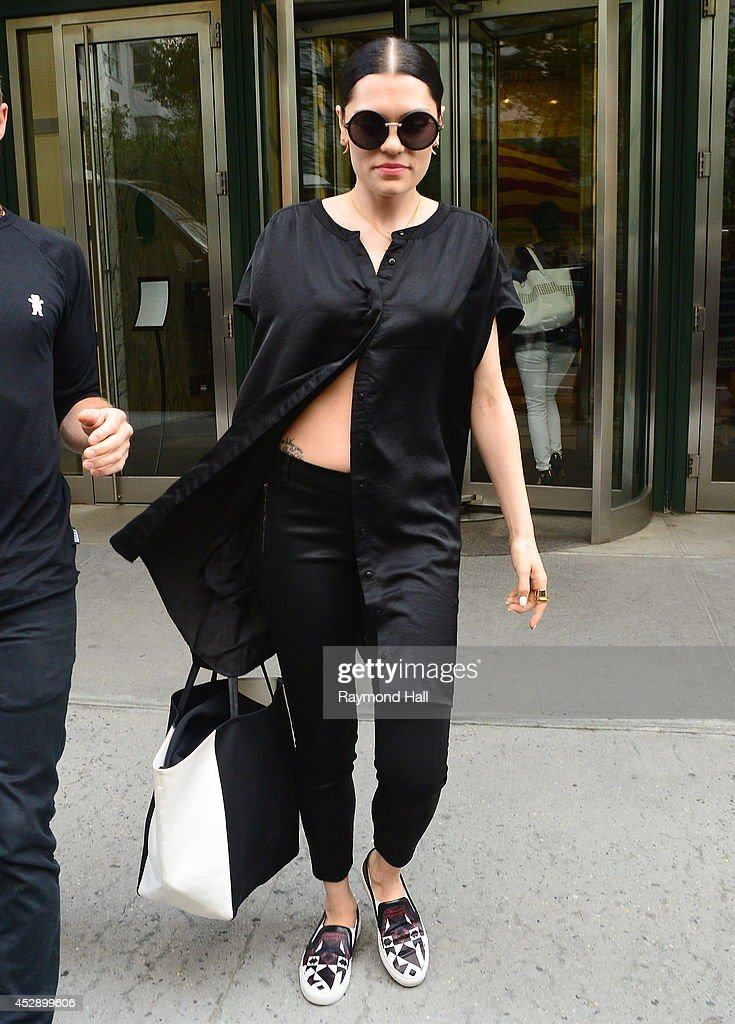 Singer <a gi-track='captionPersonalityLinkClicked' href=/galleries/search?phrase=Jessie+J&family=editorial&specificpeople=5737661 ng-click='$event.stopPropagation()'>Jessie J</a> is seen in Soho on July 29, 2014 in New York City.
