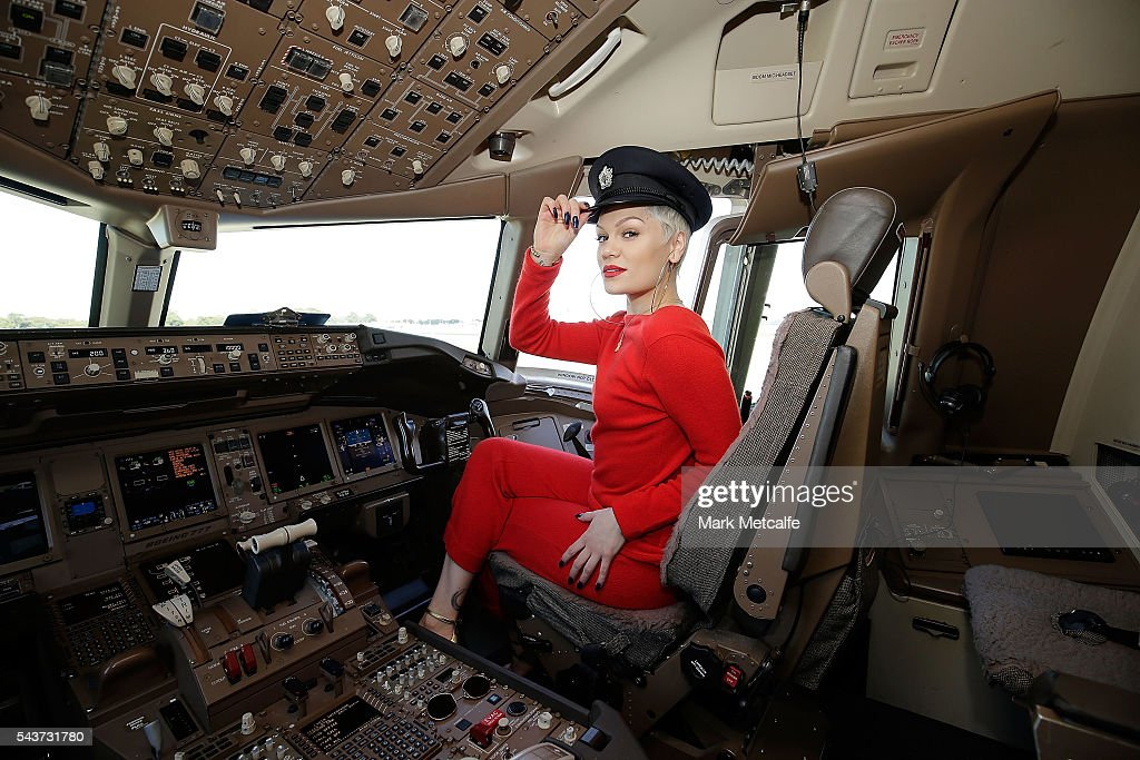 Singer <a gi-track='captionPersonalityLinkClicked' href=/galleries/search?phrase=Jessie+J&family=editorial&specificpeople=5737661 ng-click='$event.stopPropagation()'>Jessie J</a> poses in the cockpit of a British Airways 777-300 on June 30, 2016 in Sydney, Australia.The singer-songwriter played an acoustic set for VIPs and competition winners to celebrate the arrival of summer in the UK.