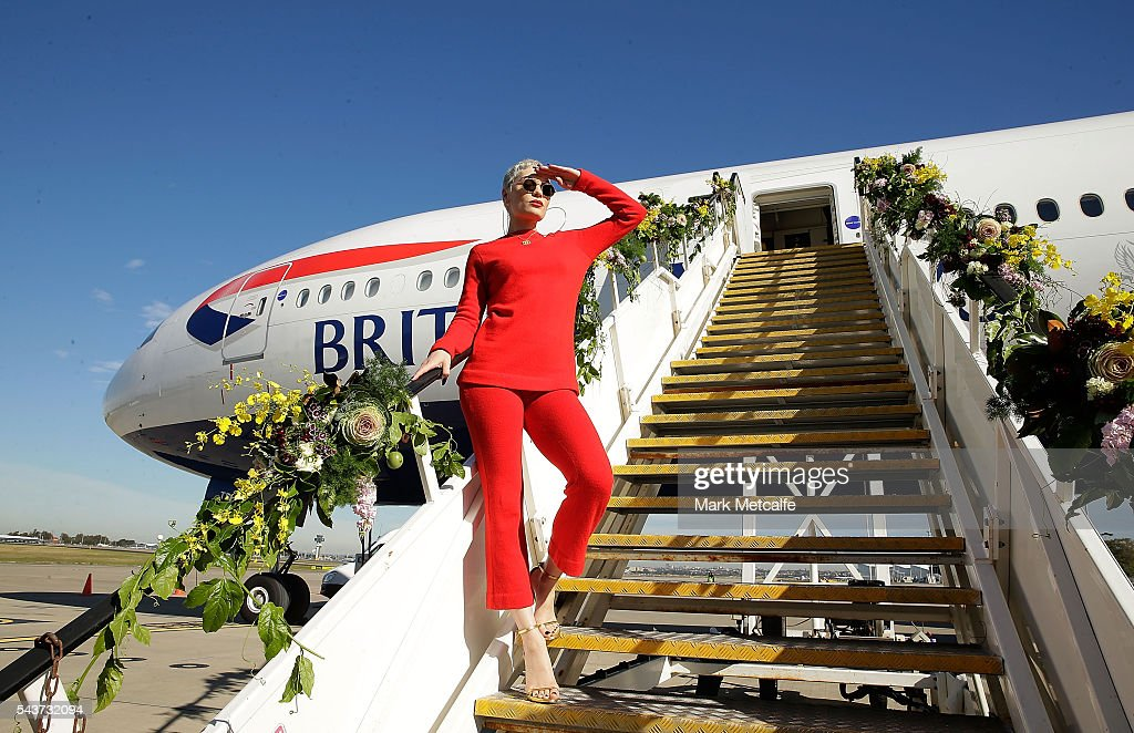 Singer <a gi-track='captionPersonalityLinkClicked' href=/galleries/search?phrase=Jessie+J&family=editorial&specificpeople=5737661 ng-click='$event.stopPropagation()'>Jessie J</a> poses on a British Airways 777-300 on June 30, 2016 in Sydney, Australia.The singer-songwriter played an acoustic set for VIPs and competition winners to celebrate the arrival of summer in the UK.