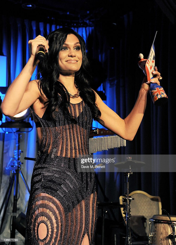 Singer Jessie J presents the 2012 BRITS Critics Choice Award at the nominations announcement for the BRIT Awards 2012 at The Savoy Hotel on January...