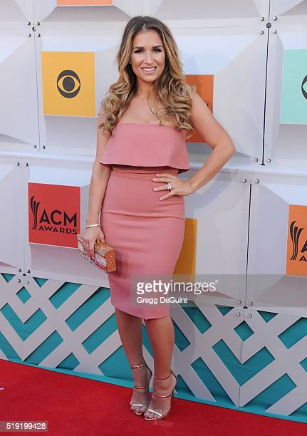 Singer Jessie James arrives at the 51st Academy Of Country Music Awards at MGM Grand Garden Arena on April 3 2016 in Las Vegas Nevada