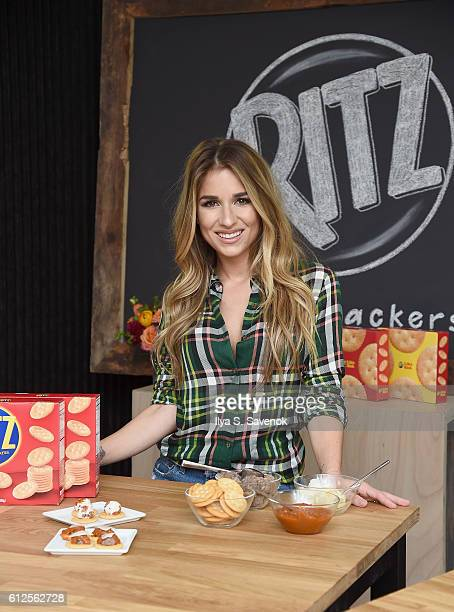 Singer Jessie James Decker attends RITZ Crackers football event on October 4 2016 in New York City
