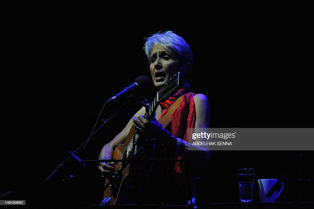 US singer Jessie Joan Baez performs late on June 16, 2012 during the 18th Sacred World Music Festival in Fes.