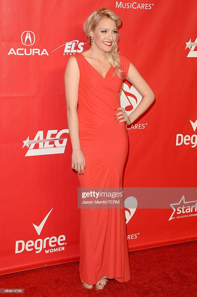 Singer Jessie Malakouti attends The 2014 MusiCares Person Of The Year Gala Honoring Carole King at Los Angeles Convention Center on January 24, 2014 in Los Angeles, California.