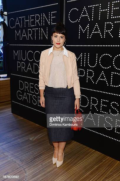 Singer Jessie Ware Catherine Martin wearing Miu Miu attends And Miuccia Prada Dress Gatsby Opening Cocktail on April 30 2013 in New York City