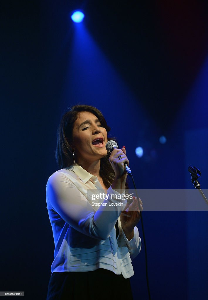 Singer Jessie Ware peforms at MTV's 2013 'Artists To Watch' Concert at Highline Ballroom on January 16, 2013 in New York City.