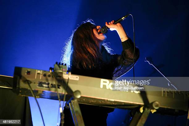 Singer Jessy Lanza performs at the Hollywood Palladium on April 1 2014 in Hollywood California