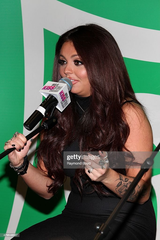 Singer Jesy Nelson of British girl group Little Mix performs in the 1035 KISS FM 'Sprite Lounge' in Chicago Illinois on MARCH 14 2014