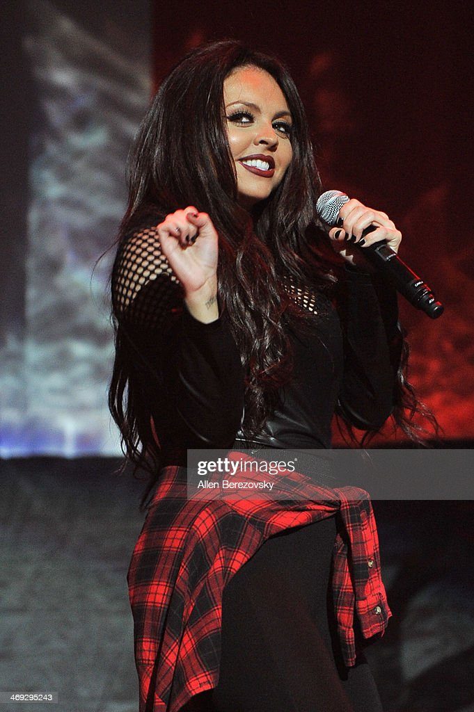 Singer Jesy Nelson of Little Mix performs at the Honda Center on February 13 2014 in Anaheim California