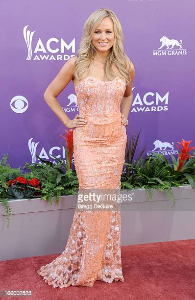 Singer Jewel arrives at the 48th Annual Academy Of Country Music Awards at MGM Grand Garden Arena on April 7 2013 in Las Vegas Nevada