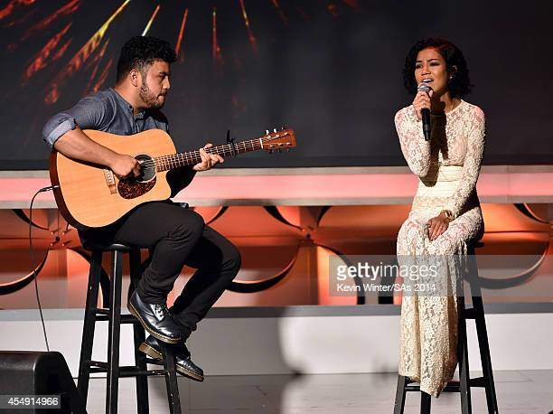 Singer Jhené Aiko performs onstage during the 4th Annual Streamy Awards presented by CocaCola on September 7 2014 in Beverly Hills California