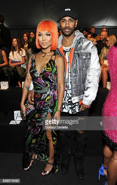 Singer Jhene Aiko and Big Sean attend the Moschino Spring/Summer17 Menswear and Women's Resort Collection during MADE LA at LA LIVE Event Deck on...