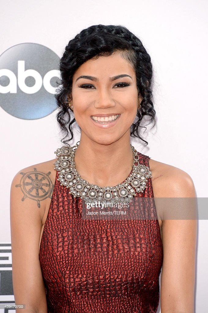 Singer Jhene Aiko attends the 2014 American Music Awards at Nokia Theatre LA Live on November 23 2014 in Los Angeles California