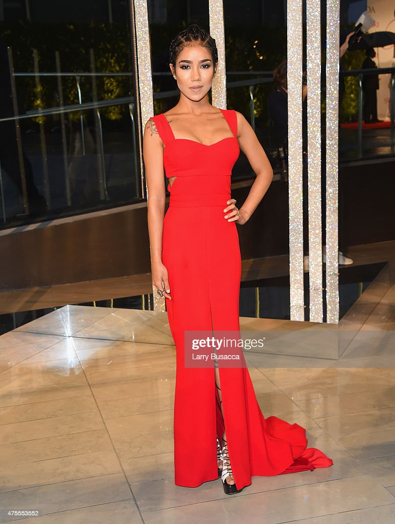 Singer Jhene Aiko attends the 2015 CFDA Fashion Awards at Alice Tully Hall at Lincoln Center on June 1 2015 in New York City