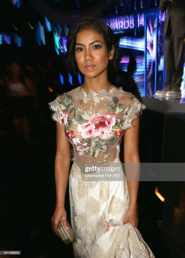 Singer Jhene Aiko attends the BET AWARDS '14 at Nokia Theatre LA LIVE on June 29 2014 in Los Angeles California