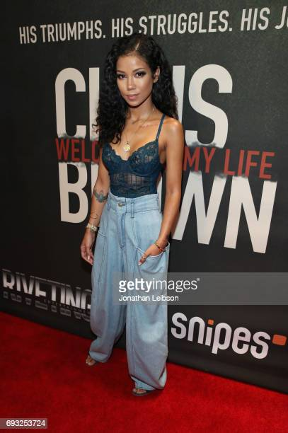 Singer Jhene Aiko attends the Premiere Of Riveting Entertainment's 'Chris Brown Welcome To My Life' at LA LIVE on June 6 2017 in Los Angeles...