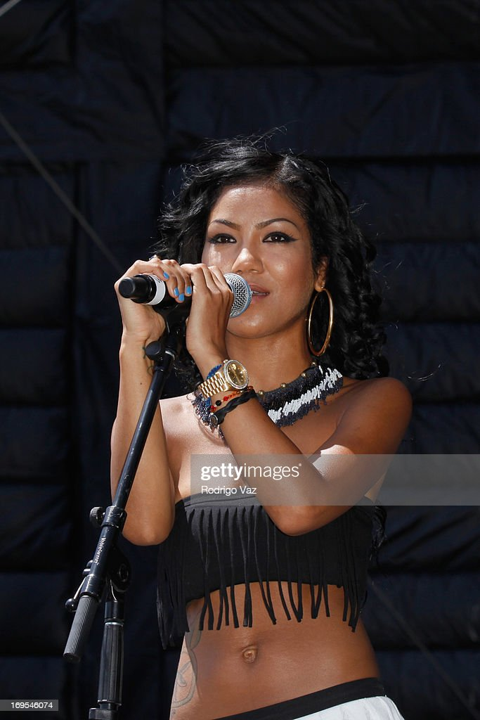 Singer Jhene Aiko performs at the 27th Annual JazzReggae Festival - Day 1 at UCLA on May 26, 2013 in Los Angeles, California.