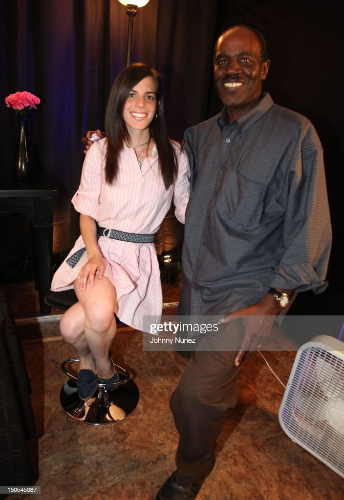 Singer Jill Criscuolo and radio personality Fred Mills visit 'The Jeff Foxx Radio Show' on August 20, 2012 in West Orange, New Jersey.