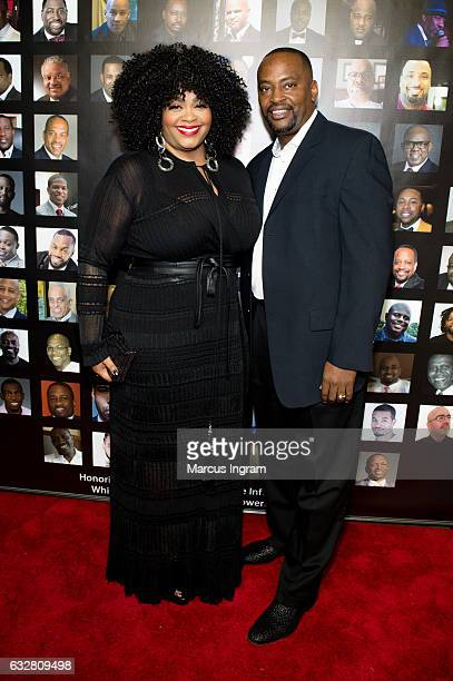 Singer Jill Scott and Mike Dobson attends 'The Made Man Awards 2017' at 595 North on January 26 2017 in Atlanta Georgia