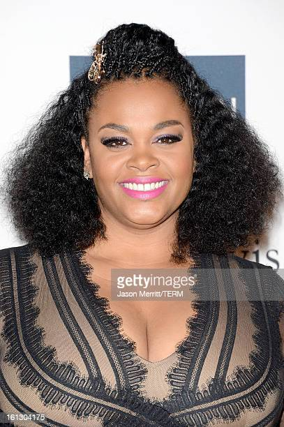 Singer Jill Scott arrives at Clive Davis The Recording Academy's 2013 PreGRAMMY Gala and Salute to Industry Icons honoring Antonio 'LA' Reid at The...