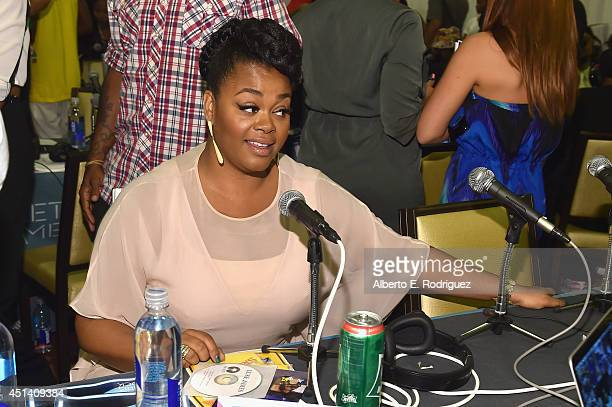 Singer Jill Scott attends day 2 of the Radio Broadcast Center during the BET Awards '14 on June 28 2014 in Los Angeles California