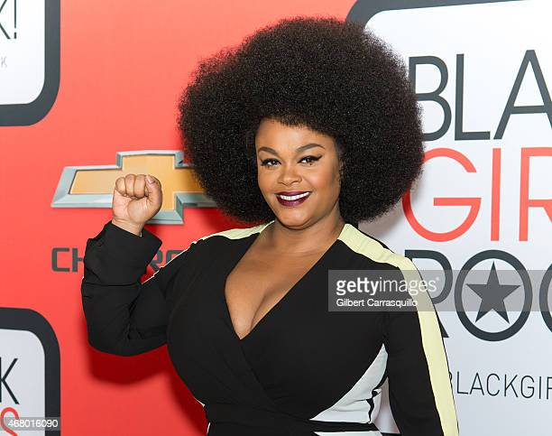Singer Jill Scott attends the BET's 'Black Girls Rock' Red Carpet at NJ Performing Arts Center on March 28 2015 in Newark New Jersey