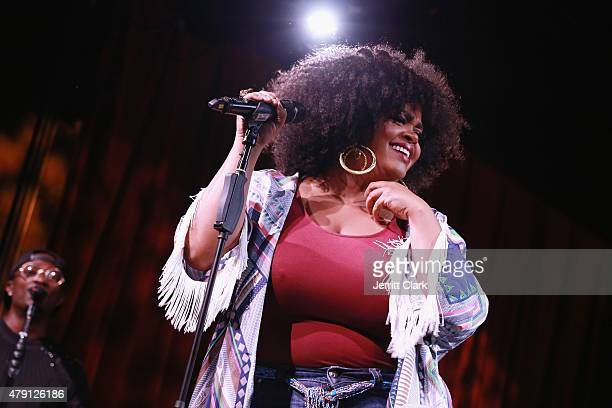 Singer Jill Scott performs at her WOMAN Album Preview Live Performance at MIST Harlem on June 30 2015 in New York City