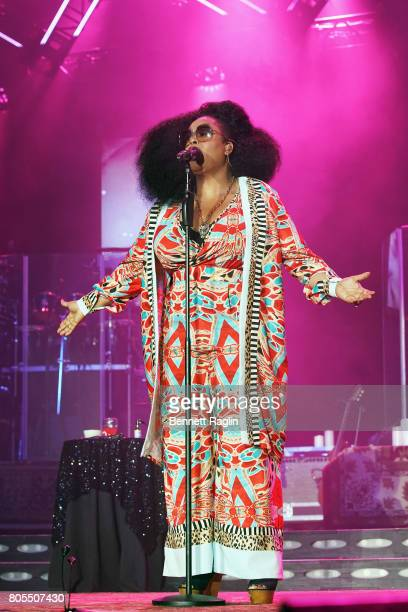 Singer Jill Scott performs onstage at the 2017 ESSENCE Festival Presented By Coca Cola at the MercedesBenz Superdome on July 1 2017 in New Orleans...