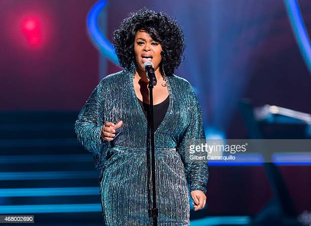Singer Jill Scott performs onstage during 2015 'Black Girls Rock' BET Special at NJ Performing Arts Center on March 28 2015 in Newark New Jersey
