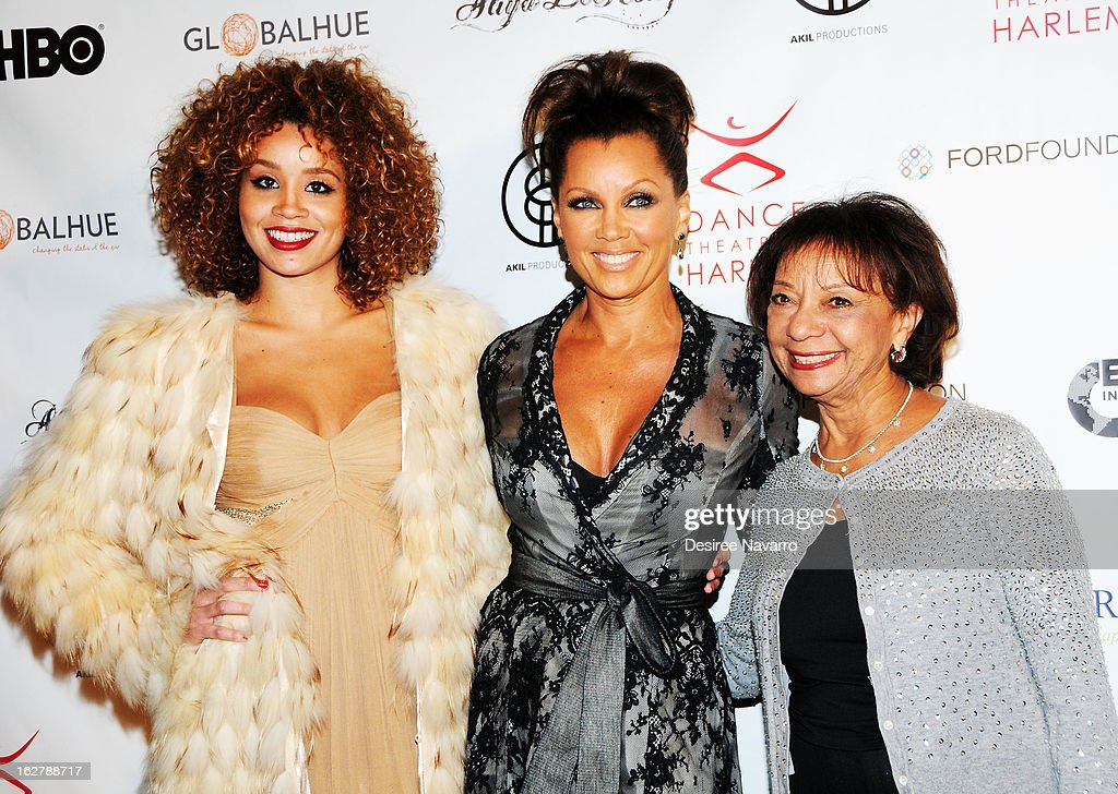 Singer Jillian Hervey, her mother actress/singer Vanessa Williams and Helen Williams attend the Dance Theatre Of Harlem 44th Anniversary Celebration at Mandarin Oriental Hotel on February 26, 2013 in New York City.
