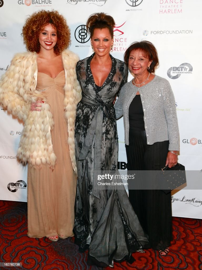 Singer Jillian Hervey, Honoree Vanessa Williams and mother Helen Williams arrive at the Dance Theatre Of Harlem 44th Anniversary Celebration at the Mandarin Oriental Hotel on February 26, 2013 in New York City.