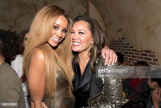 Singer Jillian Hervey of Lion Babe and her mom actress Vanessa Williams attend the Lion Babe 'Begin' Listening Party at The Roxy Hotel on February 2...