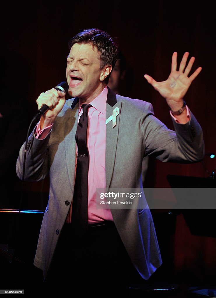 APPLY Singer Jim Caruso performs during 'The Actors Fund And Tower Cancer Research' benefit concert at Birdland Jazz Club on October 14, 2013 in New York City.