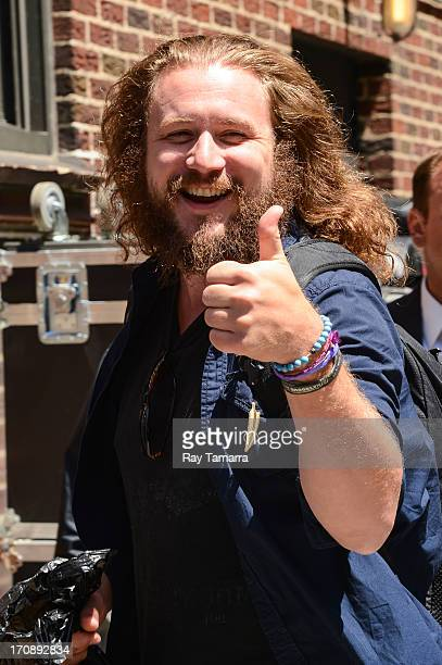 Singer Jim James enters the 'Late Show With David Letterman' taping at the Ed Sullivan Theater on June 19 2013 in New York City