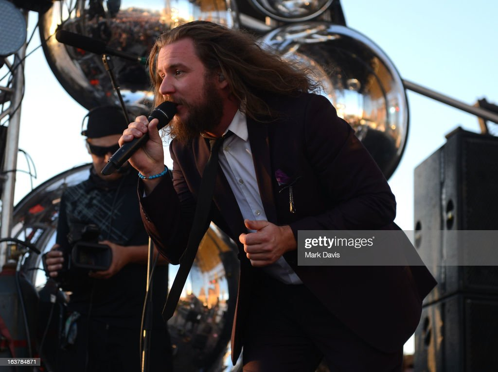 Singer <a gi-track='captionPersonalityLinkClicked' href=/galleries/search?phrase=Jim+James&family=editorial&specificpeople=563700 ng-click='$event.stopPropagation()'>Jim James</a> performs at the 2013 SXSW Music, Film + Interactive Festival held at the Auditorium Shores on March 15, 2013 in Austin, Texas.