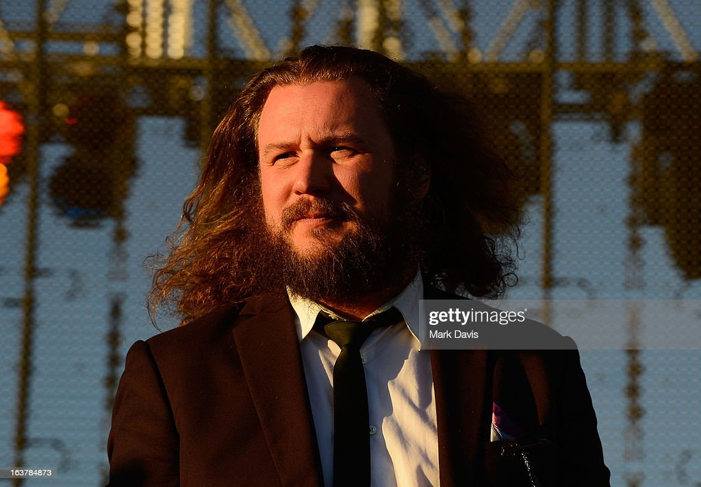 Singer Jim James performs at the 2013 SXSW Music, Film + Interactive Festival held at the Auditorium Shores on March 15, 2013 in Austin, Texas.