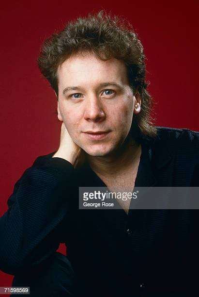 Singer Jim Kerr lead singer with the rock group Simple Minds poses during a 1986 Beverly Hills California photo portrait session Simple Minds scored...