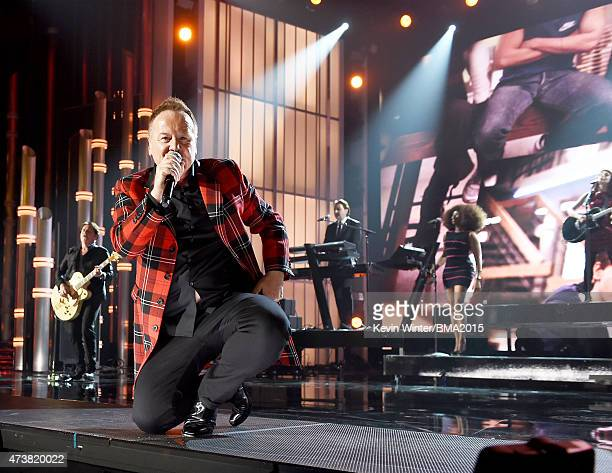 Singer Jim Kerr of Simple Minds performs onstage during the 2015 Billboard Music Awards at MGM Grand Garden Arena on May 17 2015 in Las Vegas Nevada