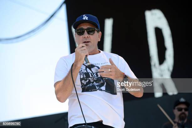 Singer Jim Lindberg of Pennywise Black Pacific and The Wraths onstage during the Its Not Dead 2 Festival at Glen Helen Amphitheatre on August 26 2017...