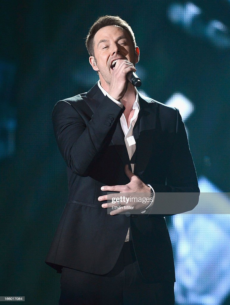 Singer Jimi Westbrook of Little Big Town performs onstage during the 48th Annual Academy of Country Music Awards at the MGM Grand Garden Arena on April 7, 2013 in Las Vegas, Nevada.