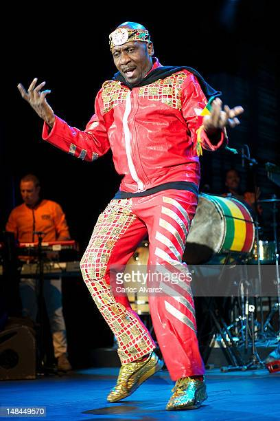 Singer Jimmy Cliff performs on stage at Theater Circo Price on July 16 2012 in Madrid Spain