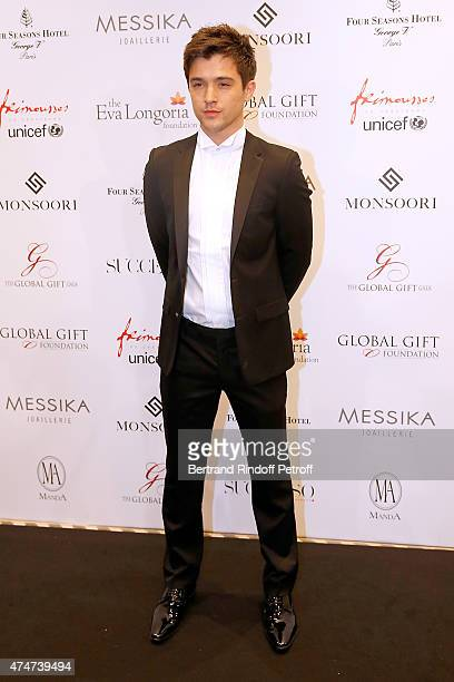 Singer JJ Hamblett attends the Global Gift Gala Photocall Held at Four Seasons Hotel George V on May 25 2015 in Paris France