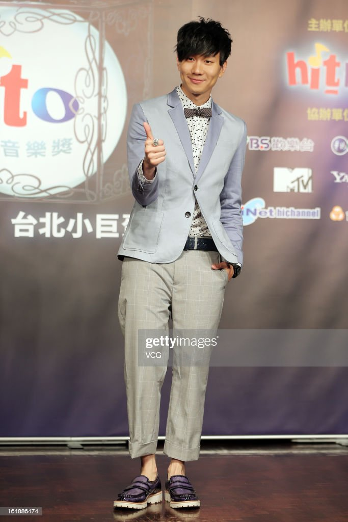 Singer <a gi-track='captionPersonalityLinkClicked' href=/galleries/search?phrase=JJ+Lin&family=editorial&specificpeople=3868242 ng-click='$event.stopPropagation()'>JJ Lin</a> attends 2013 Hito Pop Music Award press conference on March 28, 2013 in Taipei, Taiwan.