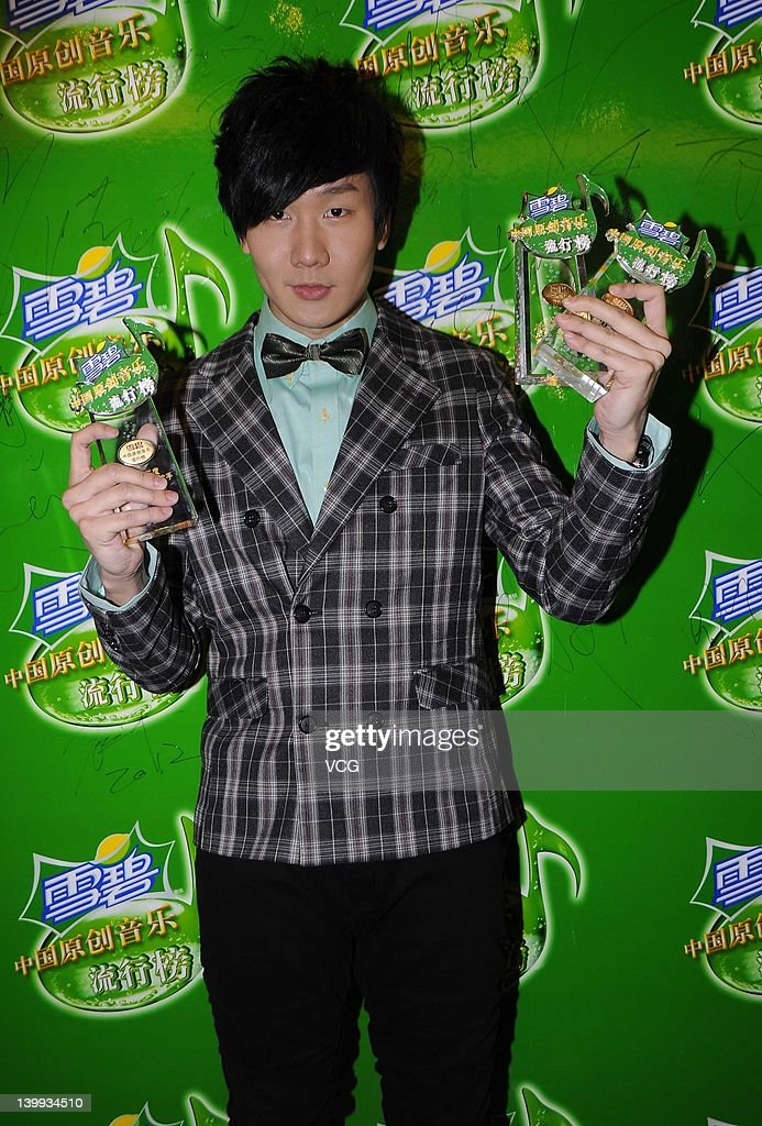 Singer <a gi-track='captionPersonalityLinkClicked' href=/galleries/search?phrase=JJ+Lin&family=editorial&specificpeople=3868242 ng-click='$event.stopPropagation()'>JJ Lin</a> attends Sprite Music Award 2011 at Guangzhou Tianhe Sports Center on February 25, 2012 in Guangzhou, China.