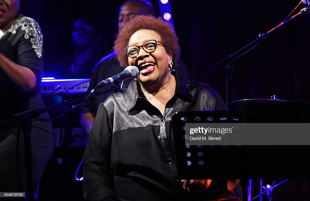 Singer Jocelyn Brown performs at The Arts Club on June 30, 2016 in London, England.